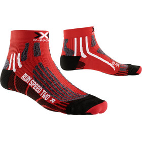 X-Socks Run Speed Two Short Socks Red/Black